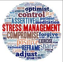 Stress management word buzz round image